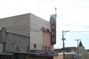 Lynn Theater in downtown Gonzales, Texas