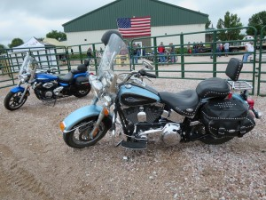 One of the many motorcycles at the community center for the event.