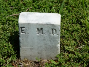 An unknown grave marker.