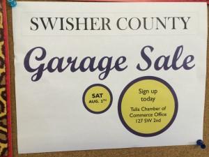 Swisher County Garage Sale
