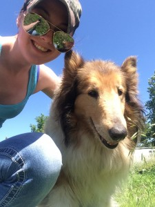 All smiles on a hot day with Lassie!