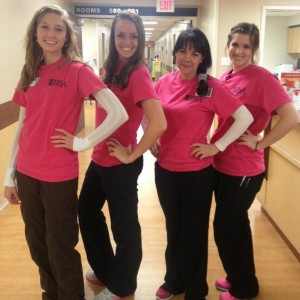 Karlie Novian and coworkers from a past CNA job