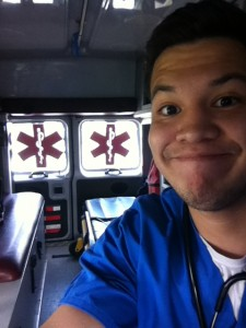 In the ambulance at HRMC!