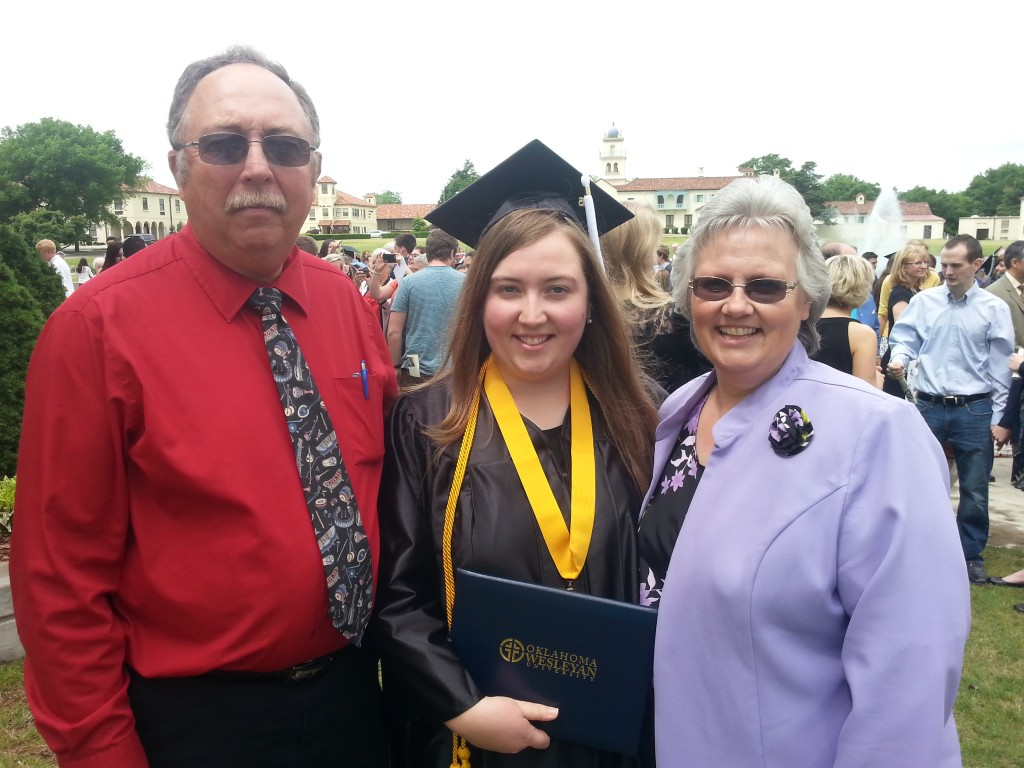 My parents and I at OKWU's graduation
