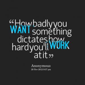 Hard work makes dreams come true!