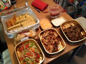 Typical Tex-Mex spread. I had no idea what a tamale was until I moved to Texas!