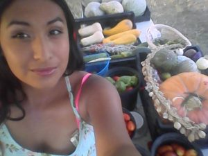 Here is I and one of my Farmer Market's stand from last year (2015)