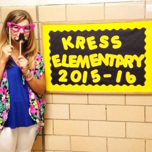 I teach at Kress Elementary