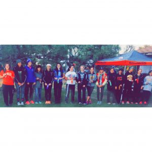 Only top 15 qualify for state at regionals. Placed at 2A Regionals and I am the one next to girl in orange shirt.