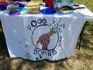 Banner for Food not Bombs