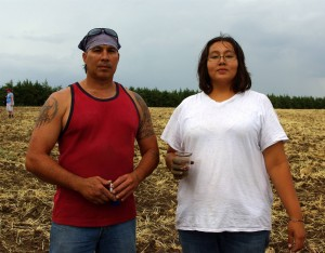 Me and my brother Mekasi planting our sacred red corn in our ancient homeland. Nebraska