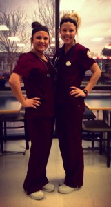 Sydney, one of my close nursing friends and I at clinical.