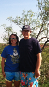 Bailey and I at the Distict 2 4-H H2O camp at Caprock Canyons State Park.