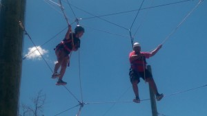 Walking the high wire as a team.