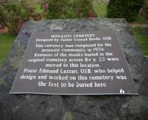 Subiaco Cemetery Sign copy