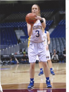 One of my favorite memories is playing basketball in the state championship tournament.