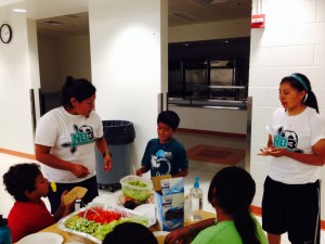 Veggie wrappn' with soccer students