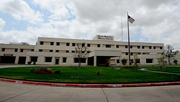 The outside view of Pampa Regional Medical Center.