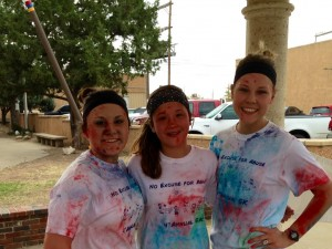 Me, my sister Sierra, and my friend Sydney after the NO Excuse for Abuse 5K.