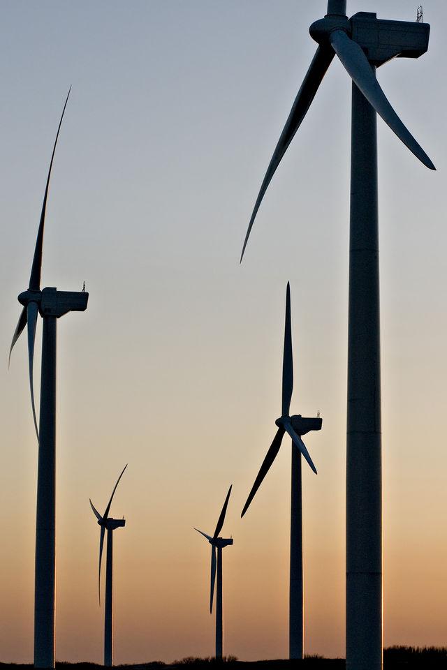 Wind farm outside of Pampa Tx.