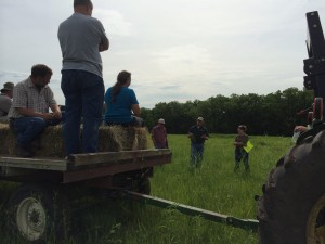 Stopping to point out different plants during the Pheasant and Quail Workshop near Westmoreland