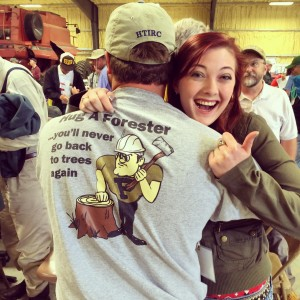 I really did hug a forester!!