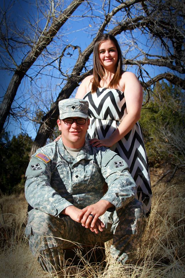 Daven Miramontes, my fiancé, US veteran- Infantry 1-67 2nd Division Bravo Company.