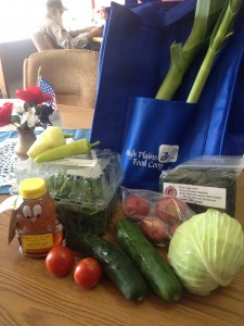 Bundle contents.  All produce is from the tri-state area making it both fresh and local!