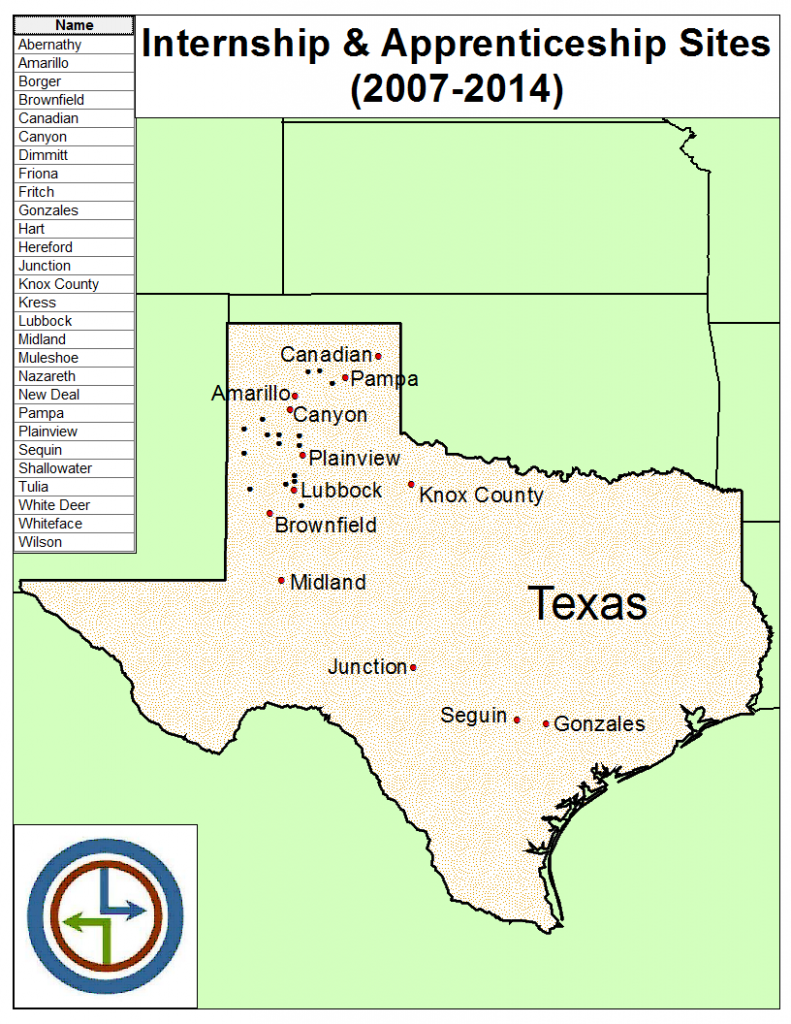 MapofTexasLocationsFeb2014