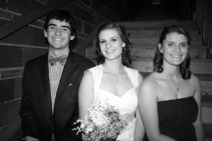 My brother, my sister, and I on my sister's wedding day.