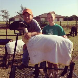 Konner after we finished shearing his lamb.
