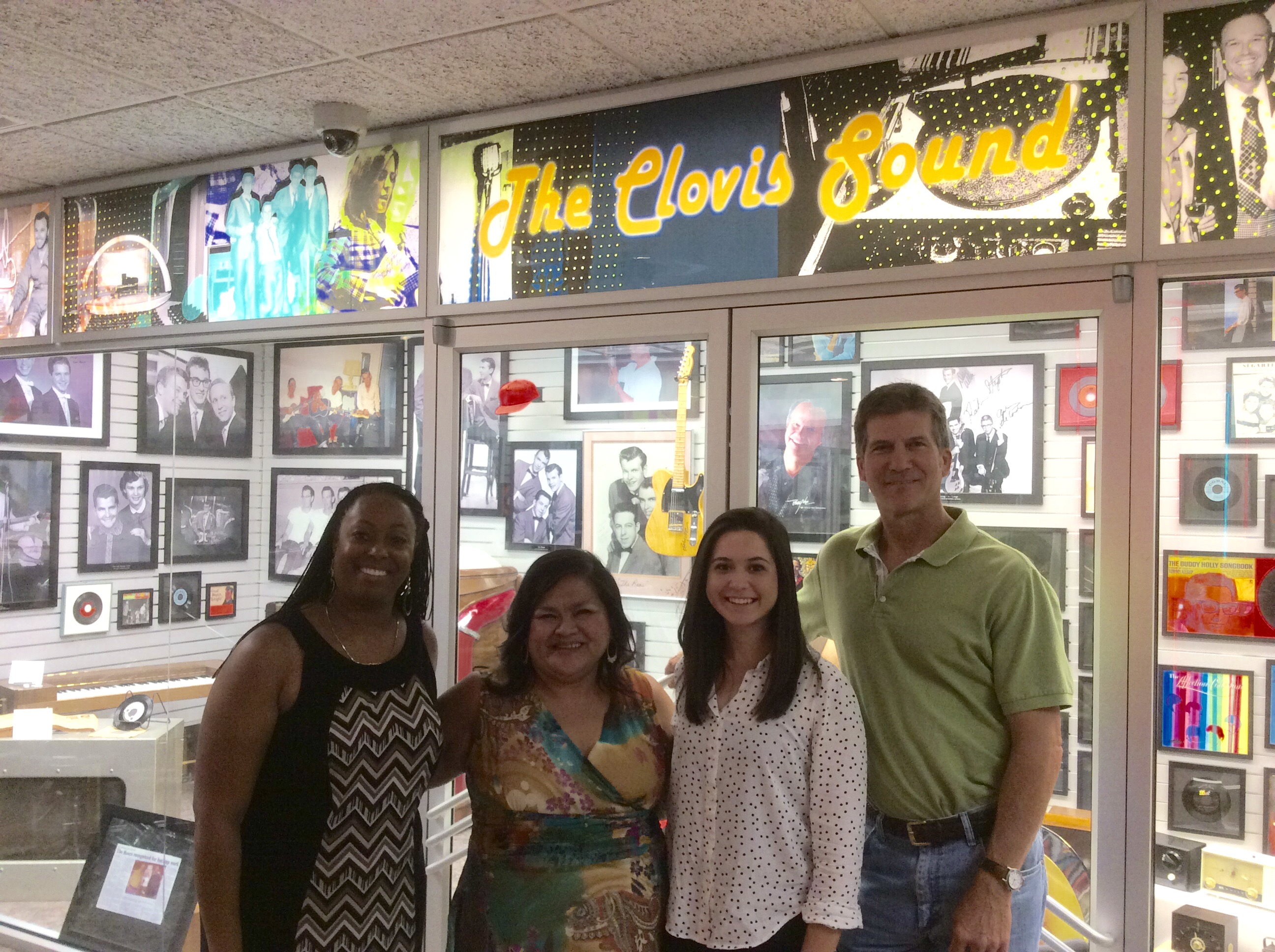 Lunch for Clovis YED will take place in the Clovis Sound Museum, where OC Intern Kelsey Garcia and OC NM Coordinator meet with officials from Clovis Chamber of Commerce