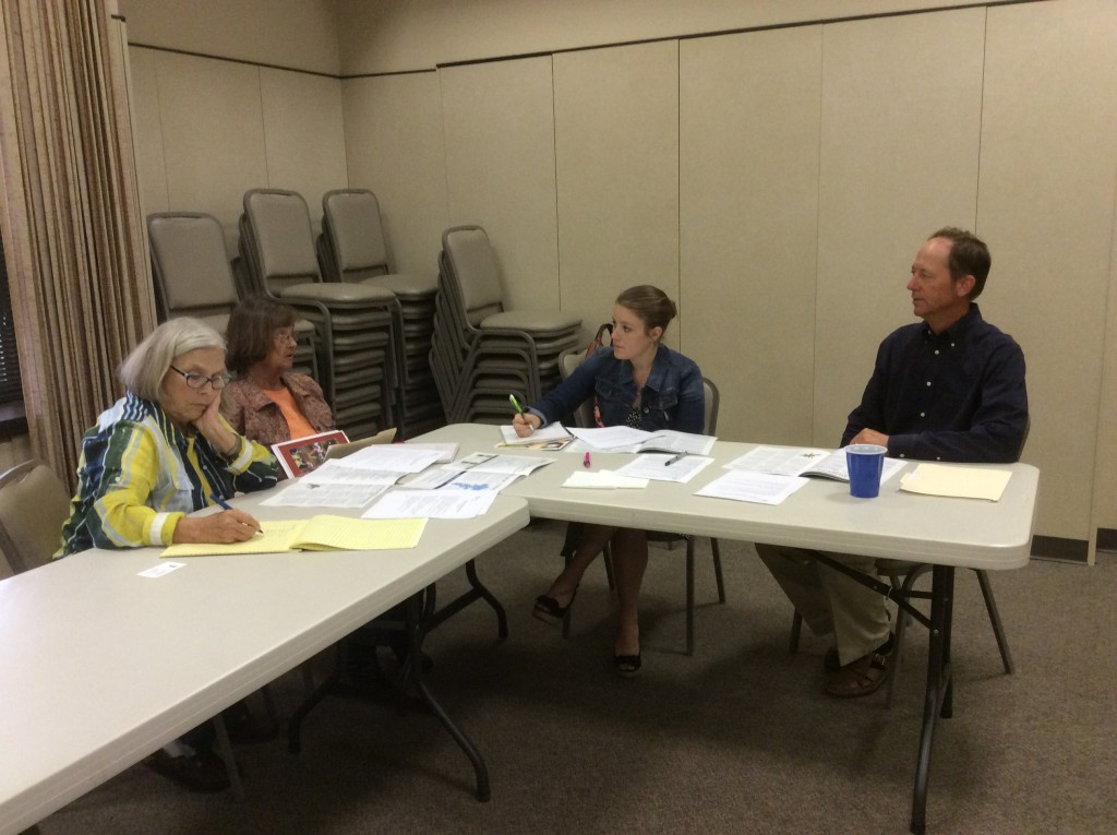 OC Community Intern Courtney Alexander and Darryl Birkenfeld lead planning in Floydada, TX.