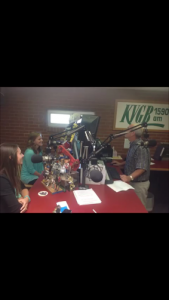 Talking on KVGB 1590 AM about my internship