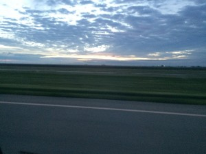 The sunrise on my drive to Plainview.
