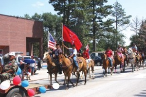 Part of the Parade put together by the local programs of Pine Ridge District