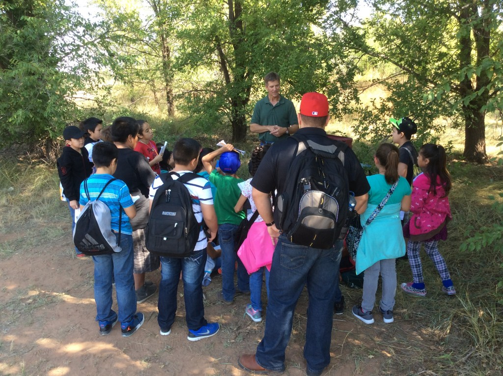Robert Martin instructs 5th Graders from Portales, NM.