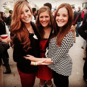 Lauren Canale at a Texas Tech football game