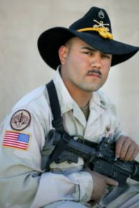 03/27/2005 Camp Udairi- SSG Justin Vasquez, 26, of Manzanola, Colo., a member of 3rd Armored Cavalry Regiment's Thunder Squadron, was killed in Iraq on June 5, 2005, when an improvised explosive device exploded next to his vehicle. Photo by TODD HEISLER/ROCKY MOUNTAIN NEWS 	03/27/2005 Camp Udairi- SSG Justin Vasquez, 26, of Manzanola, Colo., a member of 3rd Armored Cavalry Regiment's Thunder Squadron, was killed in Iraq on June 5, 2005, when an improvised explosive device exploded next to his vehicle. Photo by TODD HEISLER/ROCKY MOUNTAIN NEWS
