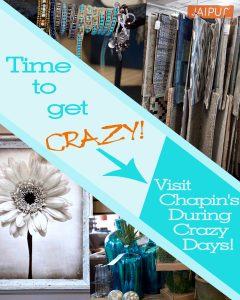 Chapin's- Crazy Days ad